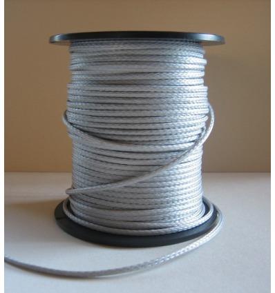 Bout DYNEEMA tressé gris, diam. 2,5mm