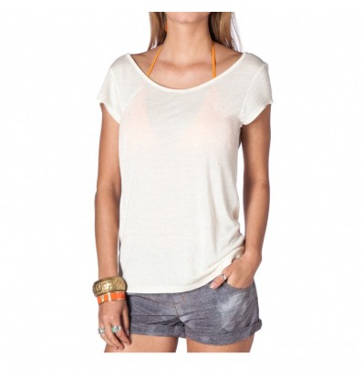 T-shirt MYSTIC women Fruity creme white
